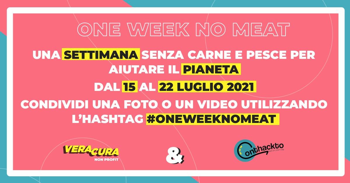 one week no meat